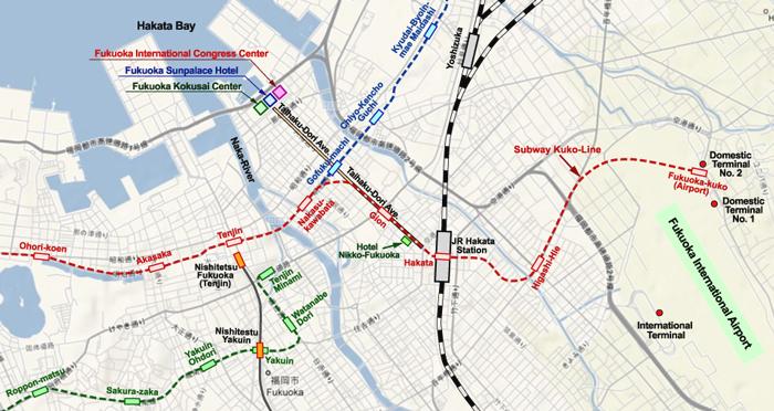 Directions Transportation to Fukuoka